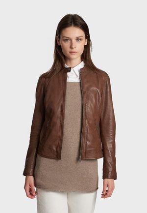 KARINE - Leren jas - light brown