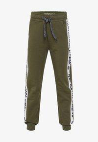 WE Fashion - MET TAPEDETAIL - Træningsbukser - army green - 0