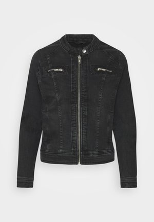 ONLTIA BANDIT BIKER JACKET - Denim jacket - black denim