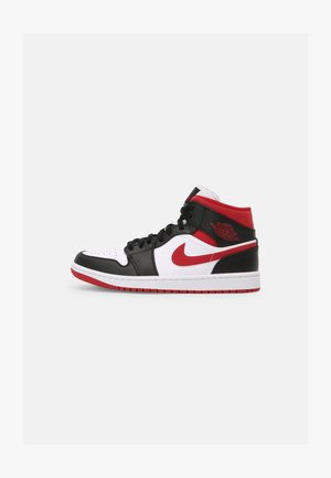 AIR JORDAN 1 MID - Höga sneakers - white/gym red/black