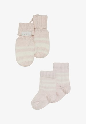 BABY GIFT SET - Mittens - powder rose