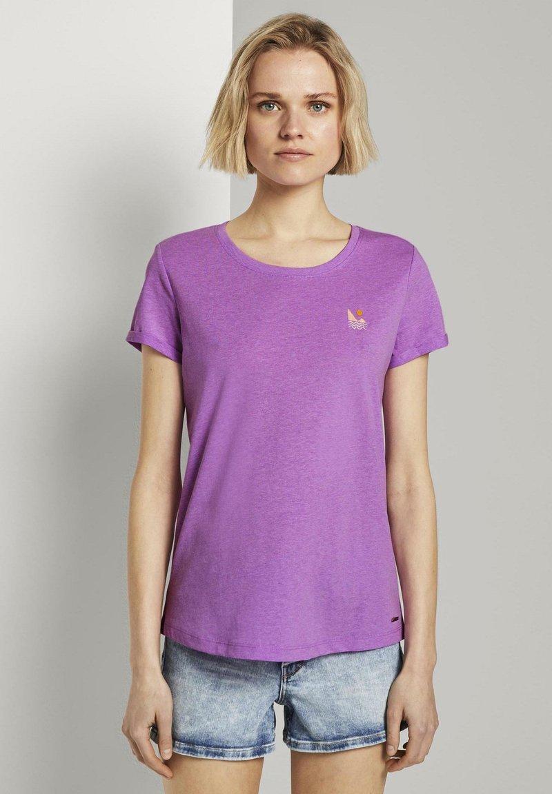 TOM TAILOR DENIM - Print T-shirt - light berry