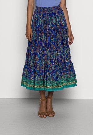 CABOTAGE - A-line skirt - bleu/petrole