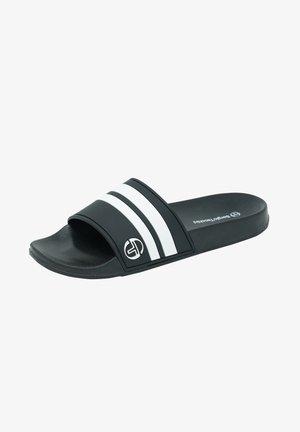 LIAM - Pool slides - black/optical white