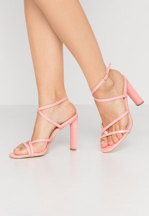 PETAL - High heeled sandals - blush
