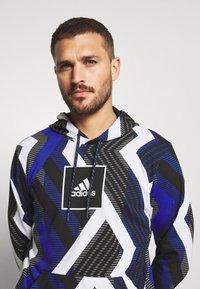 adidas Performance - HOODIE - Hoodie - white/royal blue/grey four/black - 4