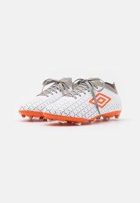 Umbro - VELOCITA V PREMIER FG - Moulded stud football boots - white/carrot/frost gray - 1
