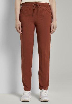 Trousers - rust orange