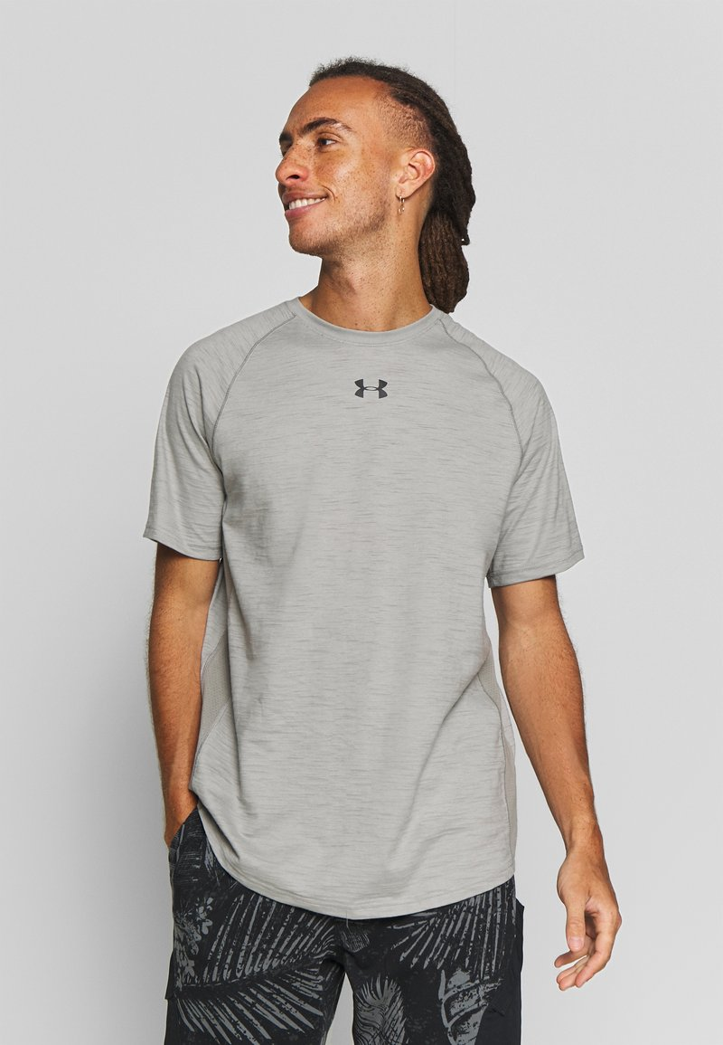 Under Armour - CHARGED - T-shirts basic - gravity green/black