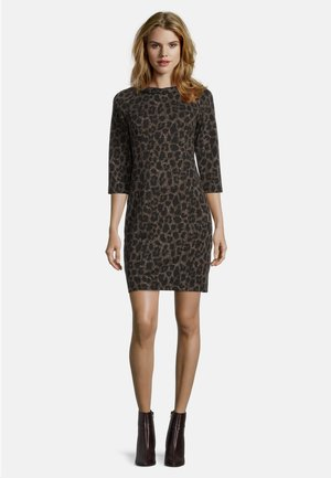 MIT 3/4 ARM - Jersey dress - black/taupe