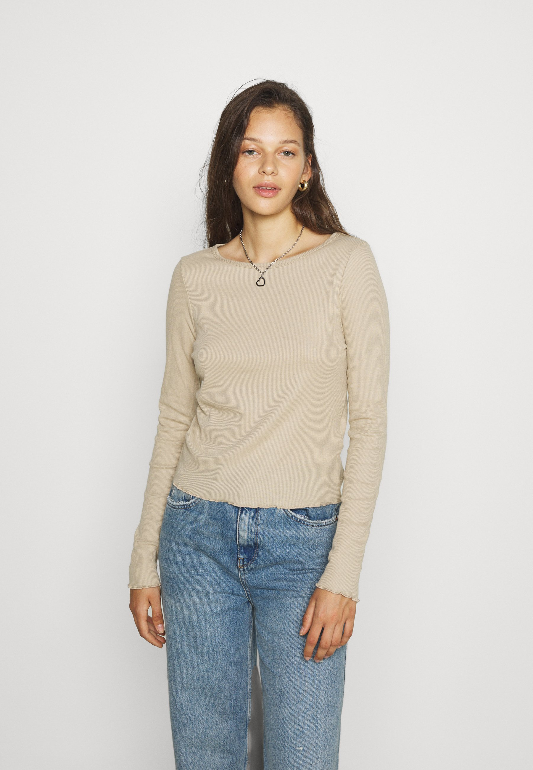 Femme CREW NECK LONG SLEEVE - T-shirt à manches longues