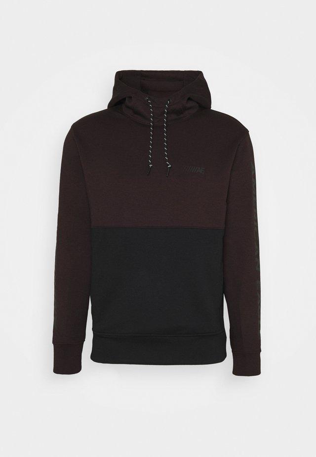 COLOR BLOCK PERFORMANCE  - Sweatshirt - burgundy