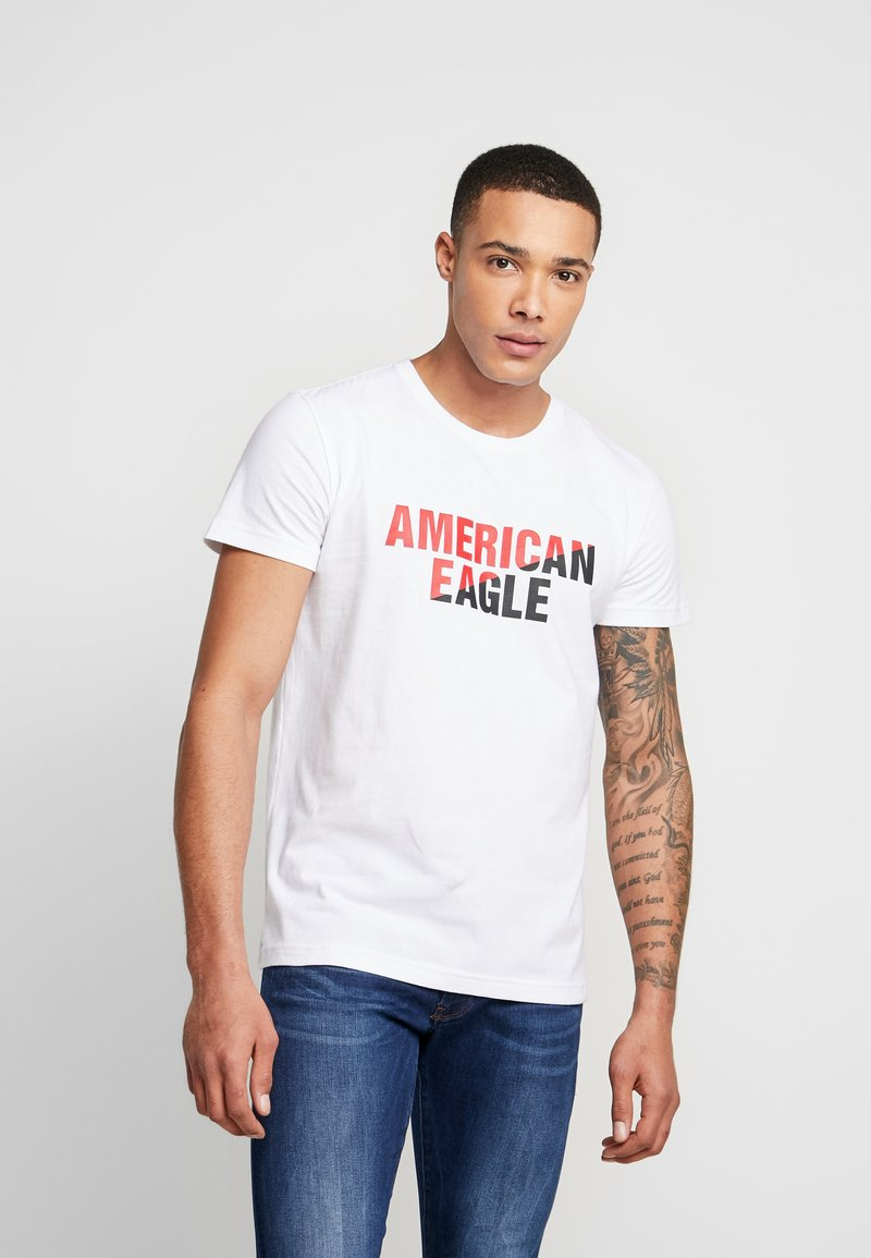 American Eagle - SET IN TEE  - Print T-shirt - white