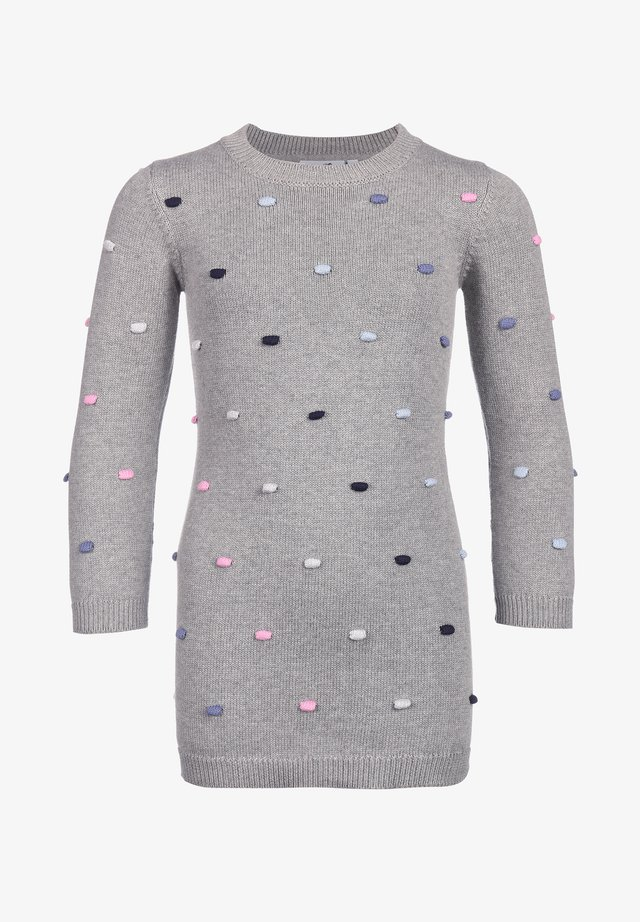 STRICK MIT PUNKTEN - Gebreide jurk - grey melange