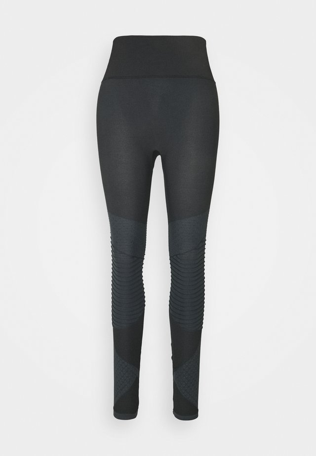 LOOK AT ME NOW SEAMLESS MOTO - Leggings - very black