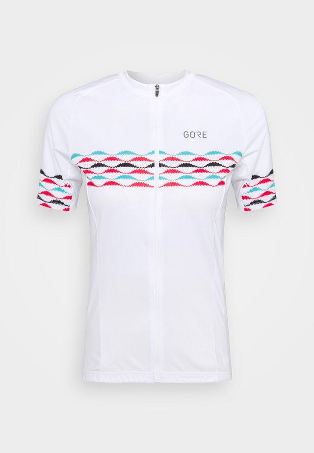 SKYLINE - T-shirt print - white/blue
