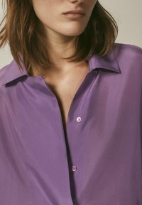 Massimo Dutti - Button-down blouse - dark purple - 6
