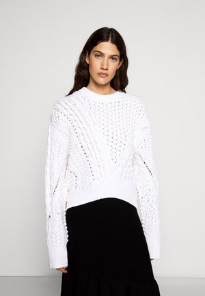 CREW NECK CABLE - Maglione - white
