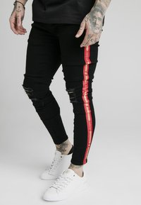 SIKSILK - BURST KNEE - Vaqueros pitillo - black - 0