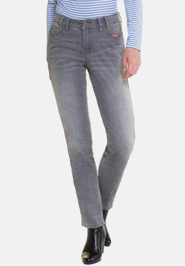 STICK-GALONSTREIFEN - Straight leg jeans - grey