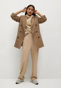 Mango - TAMMY - Trousers - beige - 1