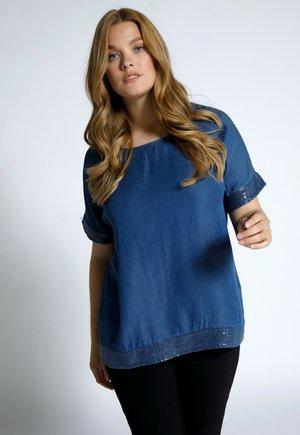 Blouse - mattes jeansblau