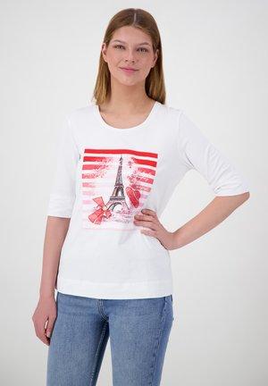 Print T-shirt - weiss uni