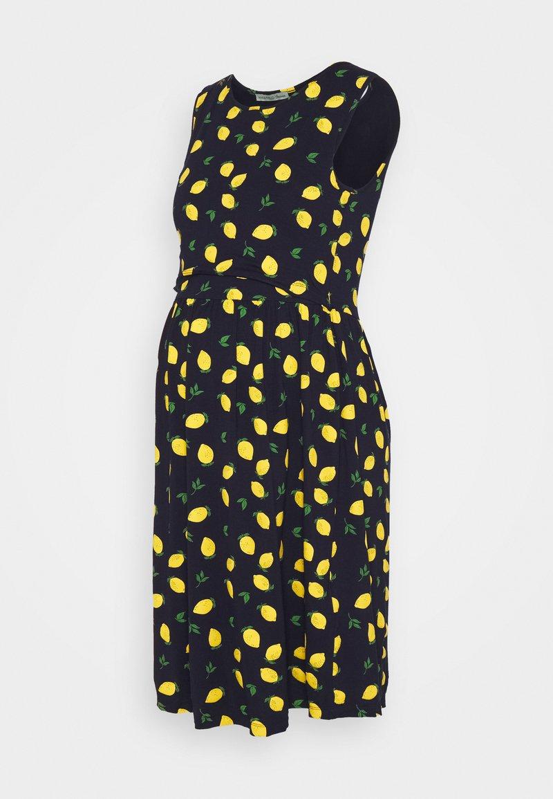 Anna Field MAMA - NURSING Jersey dress - Trikoomekko - dark blue/yellow