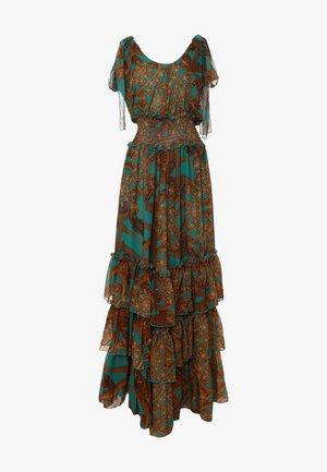 Robe longue - aqua/braun