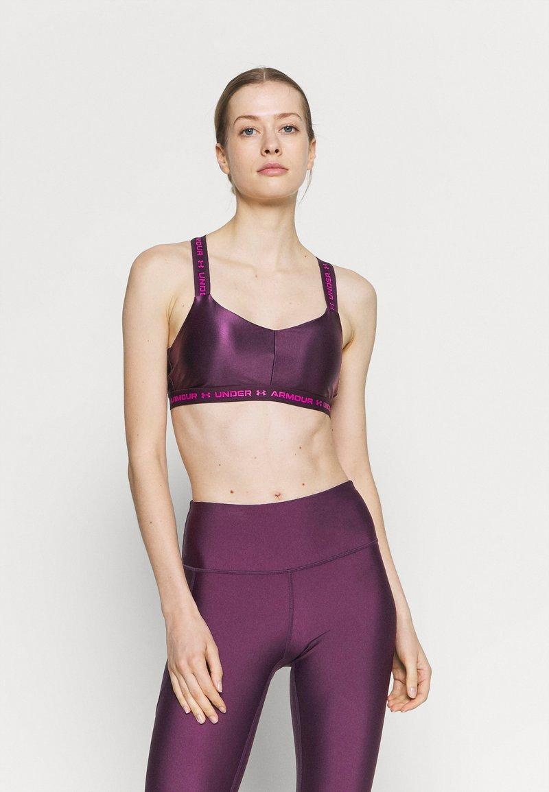 Under Armour - CROSSBACK LOW SHINE - Light support sports bra - polaris purple