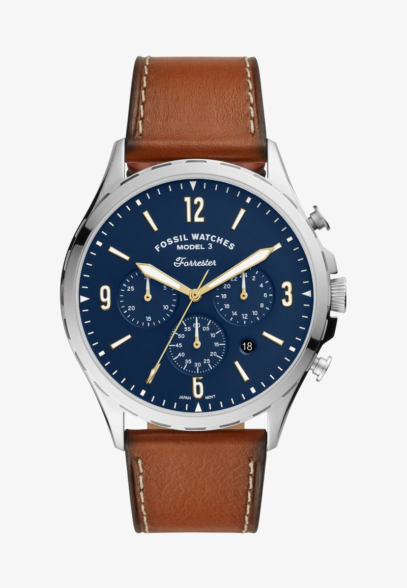 Fossil - FORRESTER - Chronograph watch - brown