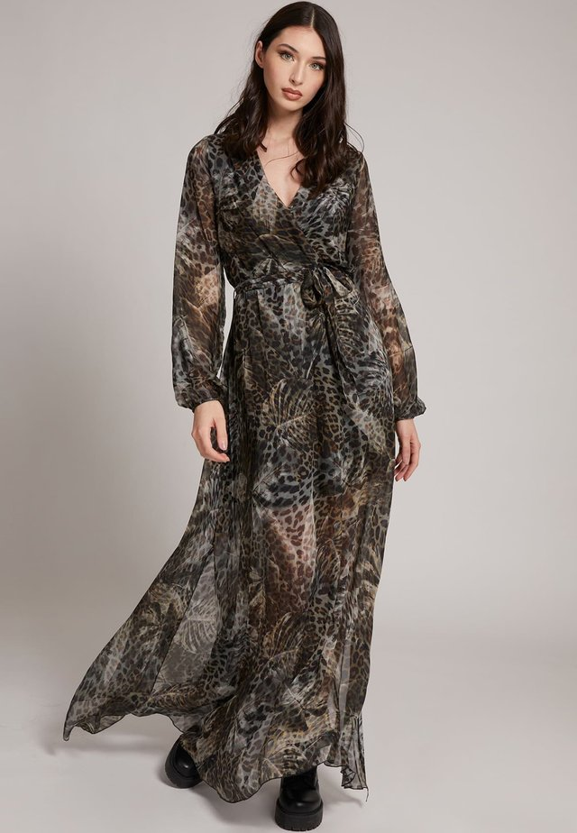 Maxi-jurk - mehrfarbig braun