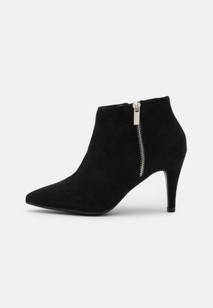 WIDE FIT BARETHA - High heeled ankle boots - black