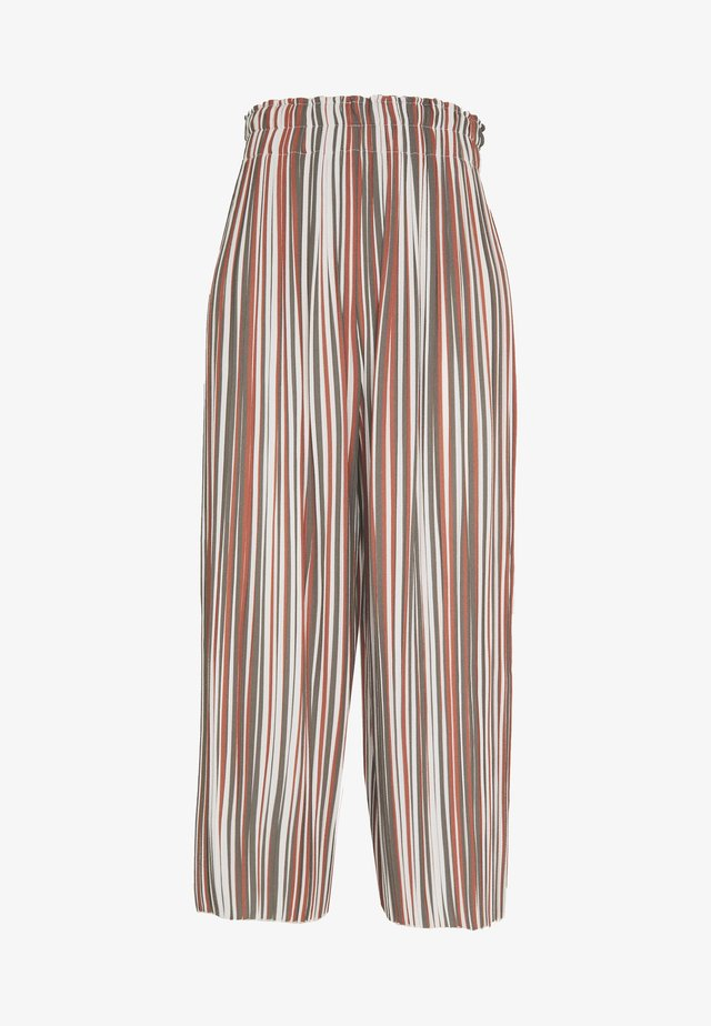 STRIPED PLISSEE PANTS - Pantaloni - multicolor