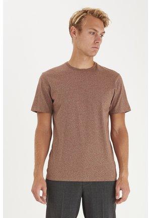 THOR  - Basic T-shirt - brown patina melange