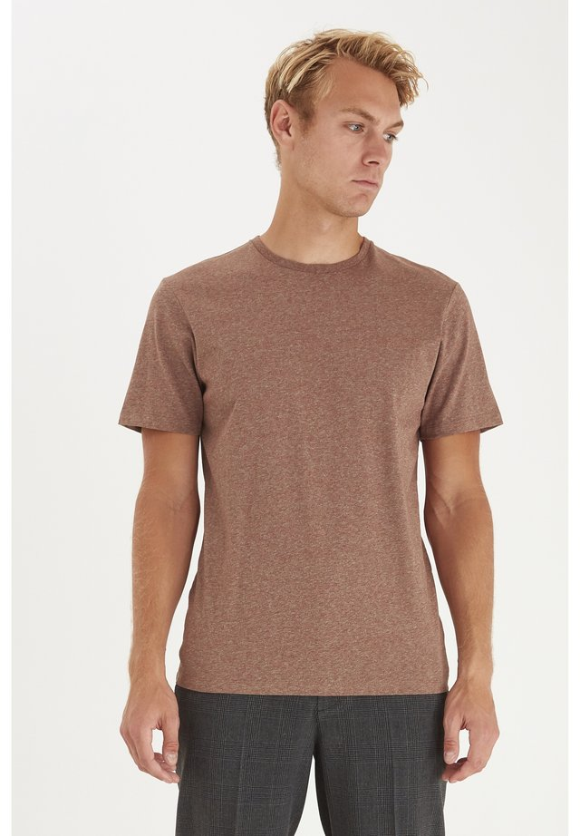 T-shirt basique - brown patina melange