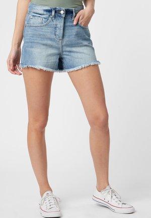 DISTRESSED  - Denim shorts - blue