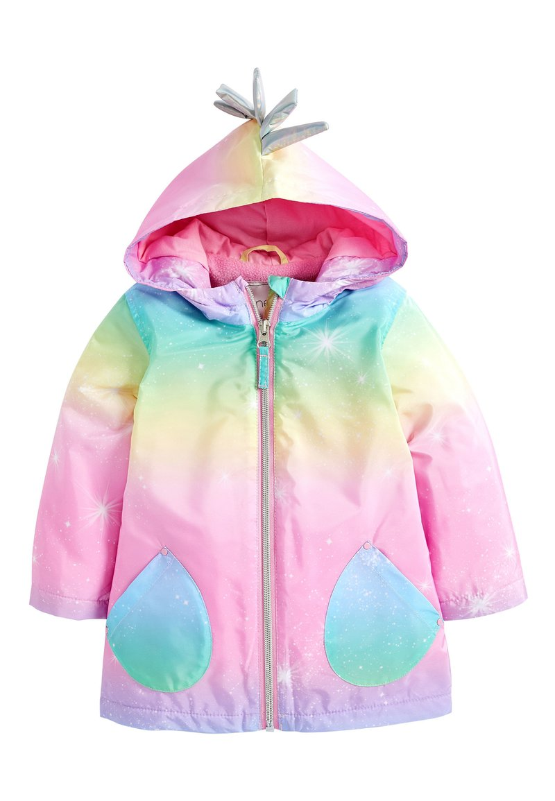 Next - RAINBOW UNICORN JACKET (3MTHS-7YRS) - Zimní kabát - pink