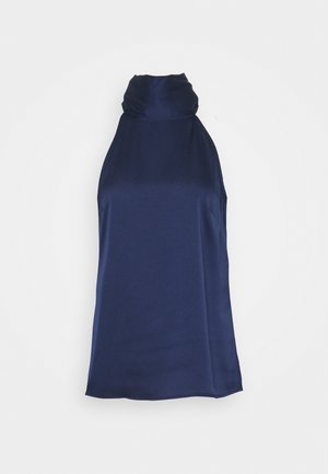 SLEEVELESS HALTERNECK - Blůza - navy