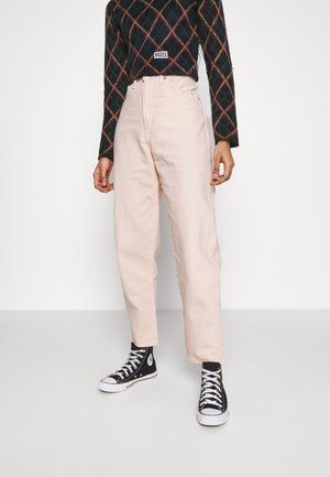HIGH LOOSE TAPER - Jeansy Relaxed Fit - off-white