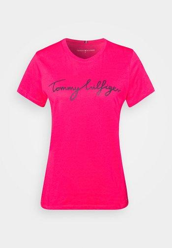 CREW NECK GRAPHIC TEE - Print T-shirt - bright jewel