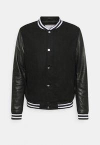 FURTIF - Bomber Jacket - black / white
