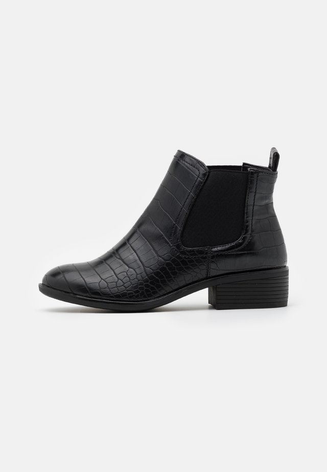 WIDE FIT MORGAN CHELSEA  - Boots à talons - black
