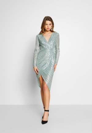 ELENA DRESS - Cocktailkjole - sage silver