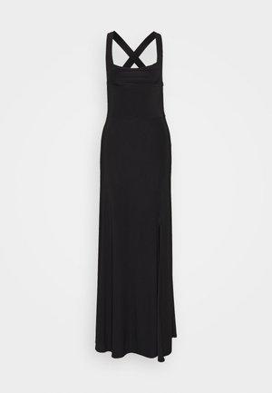 SLINKY COWL NECK CROSS BACK MAXI DRESS - Occasion wear - black