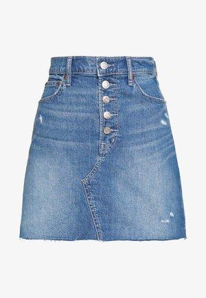 MINI A LINE SKIRT - Mini skirt - medium indigo