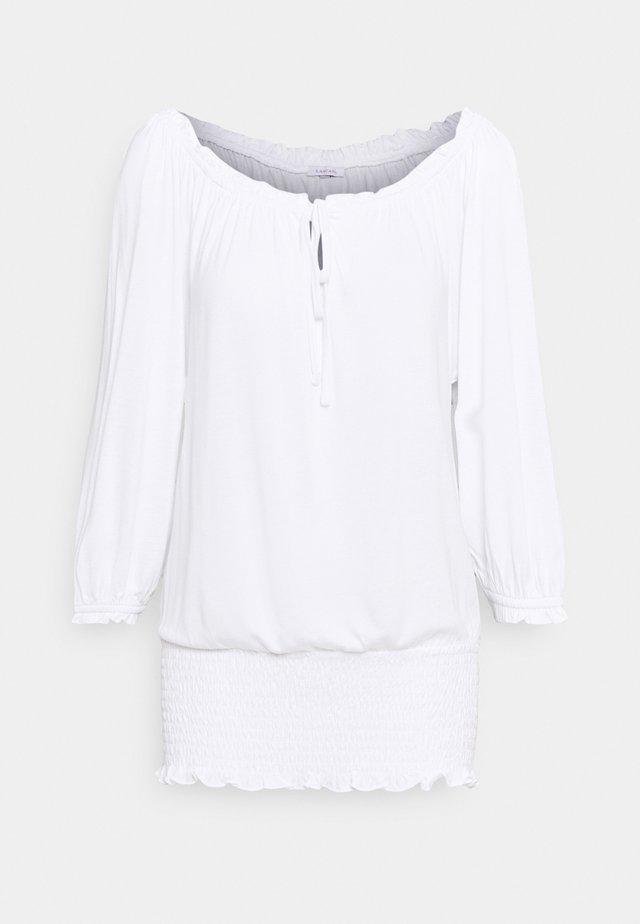 CARMENSHIRT - Long sleeved top - weiss