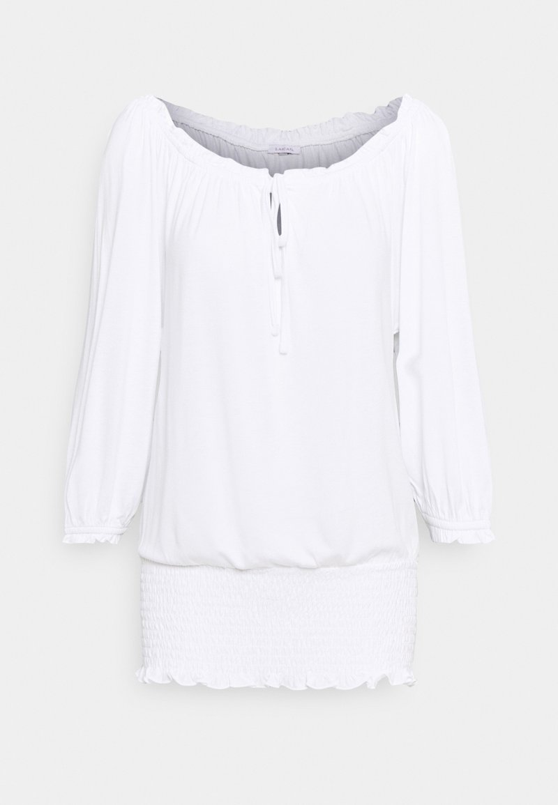 LASCANA - CARMENSHIRT - Long sleeved top - weiss
