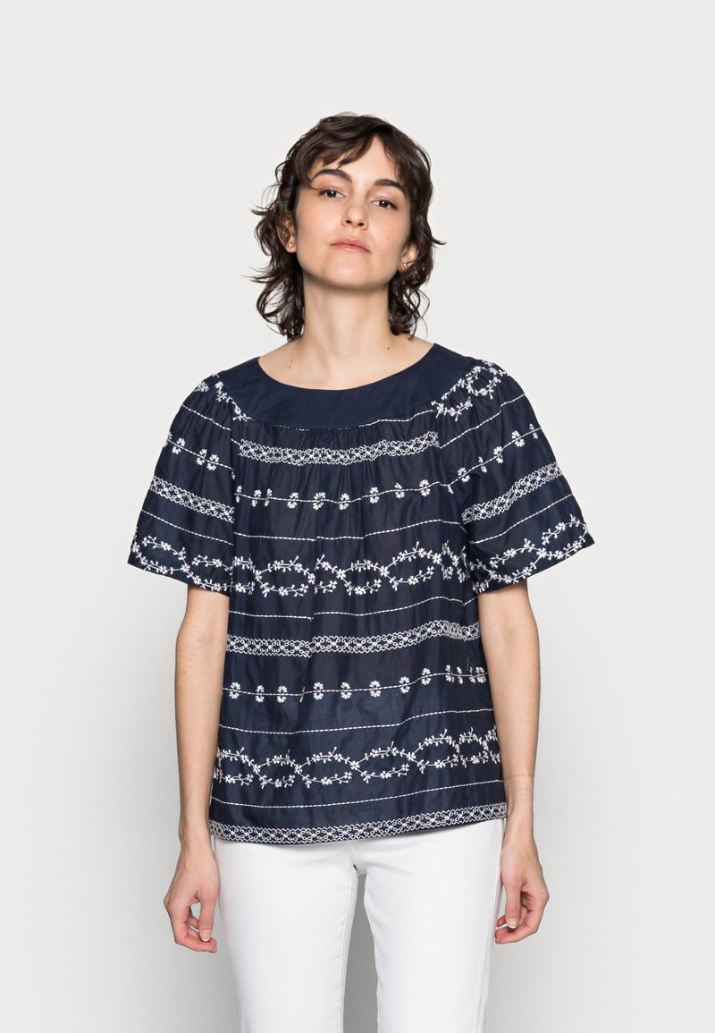 Thought - VALENTINA EMBROIDERED TOP - Blůza - navy