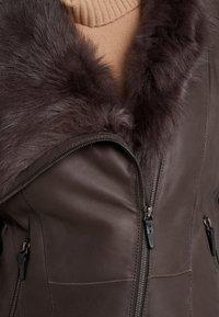 VSP - SHORT JACKET - Leather jacket - toscana dark mist - 6